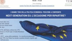 """""""I grandi temi della politica economica"""": tornano online martedì 1 dicembre"""