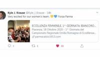 Il nuovo patron del Parma Calcio twitta sulla femminile