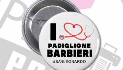 """Il Bello di essere del San Leonardo. Una """"spilla"""" per il """"Padiglione Covid Barbieri"""""""
