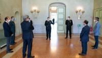 Il Comandante della Legione Carabinieri Emilia Romagna, Generale di Brigata Claudio Domizi, a Parma