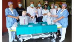 Manichini per simulare una rianimazione in urgenza, donazione di Alu Tecno al Pronto Soccorso di Parma